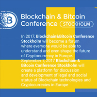Blockchain & Bitcoin Conference Stockholm 2017